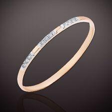 Russische Rose Gold 585 dünner RING mit DIAMANTEN SCHÖN sehr niedlich 💖💖💖
