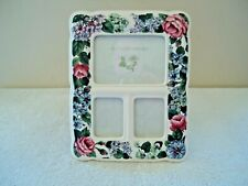 """Jennifer Moore Ceramic Floral Themed Picture Frame """" Beautiful Collectible Item"""