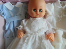 Italian Baby Doll with Handmade Clothes Set