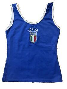 Italia tank top, Blue, Youth L