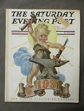 Vintage Saturday Evening Post  December 27, 1930  J.C Leyendecker cover art