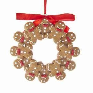 Kurt Adler Gingerbread Cookie Boy Wreath Ornament, T2592 Xmas Tree Decor