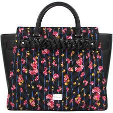 21f1629fe73 Blumarine designer luxury fashion black Tote bag with floral red roses print