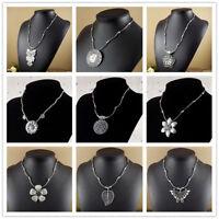 Fashion Vintage Tibetan Silver Turquoise Beads String Pendant Women's Necklaces