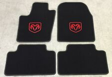 Autoteppich Fußmatten für Dodge Durango schwarz rot ab 2010 Velours Nubuk Neu