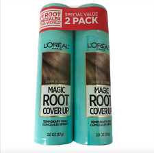 Lot of 2 L'Oreal Paris Magic Root Cover Up Gray Concealer Spray Dark Blonde New