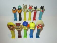 PEZ LOONEY TUNES Themed Candy Dispensers Lot Of 11 - Bugs Bunny, Tweety, Daffy