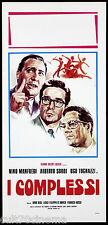 I COMPLESSI LOCANDINA CINEMA RISI MANFREDI TOGNAZZI SORDI 1964 PLAYBILL POSTER