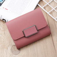 Womens Short Small Wallet Lady Faux Leather Folding Coin Card Holder Money Purse