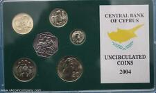 2004  Cyprus Uncirculated Coin Set Cent Currency