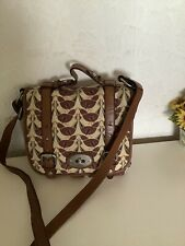 Fossil  Maddox Messenger Bag In Canvas With Leather Trim