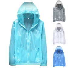 Womens Men Outdoor Thin Skin Jackets Quick Dry Jackets Waterproof Sun&UV Coats N