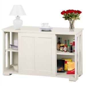 Kitchen Sideboard Buffet Server Storage Cabinet Cupboard TV Side Table Sliding