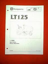 """HUSQVARNA MODEL LT125 12.5 HP 38"""" LAWN TRACTOR PARTS MANUAL"""