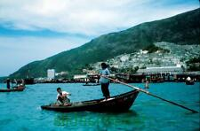 ORIGINAL Slide Photo Hong Kong View of Fishermans Boat  Aberdeen Harbor? 1962