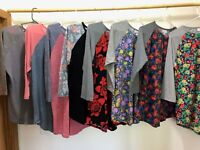 lularoe Large Randy T's solid and floral beautifully soft colors
