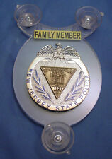 NJSP  NEW JERSEY STATE POLICE   POLICE FAMILY MEMBER CAR SHIELD - NJSP - FOP -05