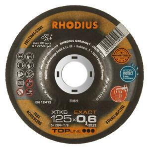 10 Stück Rhodius XTK6 Exact 125x0,6x22,23mm in praktischer Aufbewahrungsbox