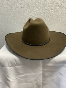 Vtg Resistol Beaver  Cowboy Hat 4X with Origin Box! Handmade 7 1/8  BONNER Style