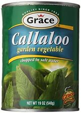 grace jamaican callaloo garden vegetable chopped in salt water