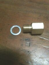"Pressure Gauge Sender Adapter 1/8"" NPT Female to M10x1.0 Male m10 fuel oil trans"