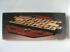WYKERSHAM Strategy Board Game of LINES Carved Wood Leather Mats Instructions
