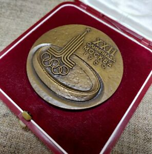 Table medal, USSR, Olympic games in Moscow , 1980 year RARE master A. Leonova