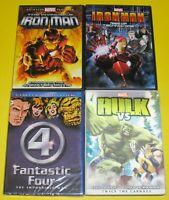 Kid DVD Lot - Marvel The Invicible Iron Man Fantastic Four & Hulk vs Thor (Used)