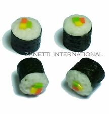 Set of 4 Dollhouse Miniature Sushi * Doll Mini Cute Japanese Tiny Food Lot Rice