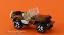 2012 Matchbox Loose 1943 Jeep Willys Brown Swamp Crew Brand New Combine Shipping