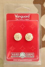 Us Army Gi One Pair Button Set For Enlisted Nco & Officer Visor Cap Chin Strap
