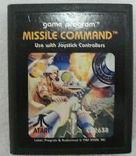 Atari Video Game Cartridge Missile Command Dated 1981