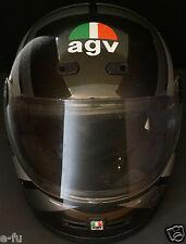 Vintage AGV KR-2001 Black Motorcycle Helmet Made In Italy Valenza Italian Logo