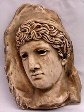 3 D Greek Face Reproduction Fragment of Athena Goddess Statue Art Sculpture