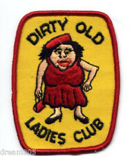 Vintage Dirty Old Ladies Club shirt patch Girls Punk! Women Crazy Lady?! Ha!