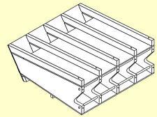 "Can Rack Plans 2-1/8"" - 2-1/2"" Horizontal 16"" Deep H212-16"