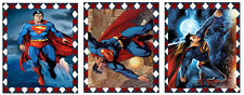 SET OF 9 SUPERMAN SUPER HERO SCRAPBOOK CARD CRAFT EMBELLISHMENTS HANG GIFT TAGS