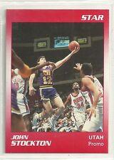 John Stockton 1990 Star Company Utah Jazz Promo Card