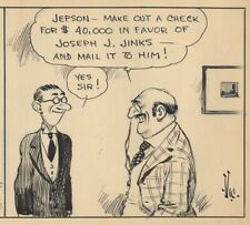 VIC FORSYTHE Original Daily Comic Strip ART of JOE JINKS, May 18, 1928
