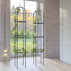 1.9m Outdoor Garden Metal Obelisk Climbing Plant Support Frame Trellis UK