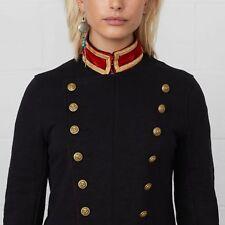 Ralph Lauren Denim & Supply Women Military Army Officer Band Long Jacket Coat XS