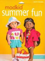 """Modkid Summer Fun  18"""" Doll Clothes Sewing  Patterns Fits American Girl Dolls"""