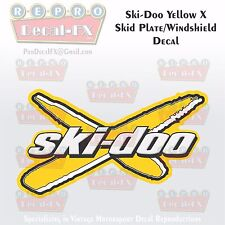 2003-08 Ski-Doo X Skid Plate/Windshield Yellow Reproduction Decal HighTack Vinyl