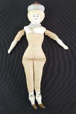 "= Vintage 9-1/2"" Bisque Shoulder Head Parian Type Doll Germany"