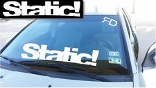 """Static! Windshield Banner Decal / sticker 6x28"""" tuner boost low funny euro jdm"""