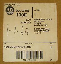 ALLEN BRADLEY 190E MNZ242 CB16X 24 VDC 1-1.6 Amp ECO Starter