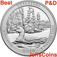 2018 P D Voyageurs National Park Quarter Minnesota PD Mint ATB $1.78 2+ Voyagers