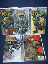 Ultimate Wolverine vs Hulk #1, #3-#6 Marvel Comics NM with Bag and Board