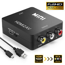 HDMI to CVBS 3 RCA AV Mini Composite Video Converter Adapter for PS3 PS4 XBOX TV