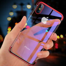 For iPhone 5 5S SE 7 8 XS MAX Electroplate Silicone Ultra Slim Clear Soft Cover